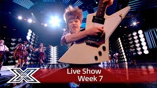 The cast of School of Rock open the Live Results Show   The X Factor UK 2016