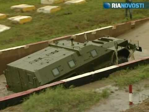 Kamaz and Ural military vehicles negotiate rivers and slopes