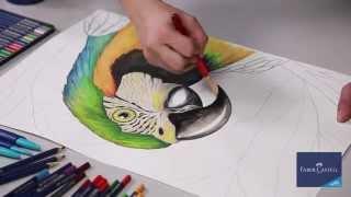 getlinkyoutube.com-Faber-Castell - Lápices de color acuarelables Art Grip
