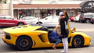 getlinkyoutube.com-Guy With Lamborghini Steals Girl From Dude in Fancy Car PRANK!!