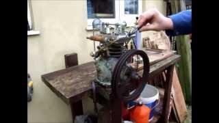 getlinkyoutube.com-Gas engine made from an old refrigeration compressor