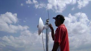 Radio Enlace  PTP de 5 km. para transportar el servicio de internet y de una linea telefonica