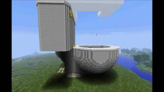 getlinkyoutube.com-Minecraft Toilet - It Flushes!