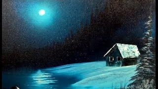 getlinkyoutube.com-Landscape painting - PAINTING WITH MAGIC season 4 ep 3 ( Thalo Moon Winter )