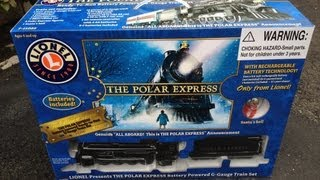 getlinkyoutube.com-The Polar Express Lionel G Gauge Scale Battery Train - Under the Christmas Tree Toy Electric Review