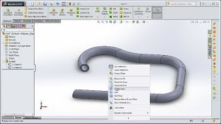 getlinkyoutube.com-Solidworks Course 5 - Swept Boss and Editing Object