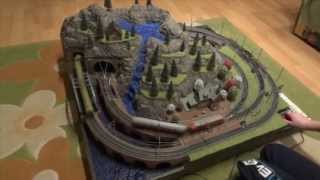 getlinkyoutube.com-How to make a train diorama from scratch (for a model railroad and terrain)