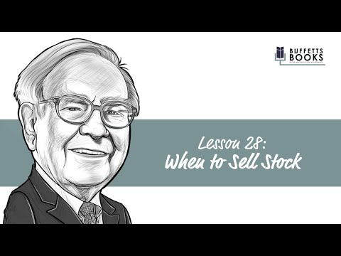 28. When to sell stock like Warren Buffett