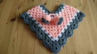 getlinkyoutube.com-NewBorn - 3 Months Poncho - Crochet - Tutorial - English