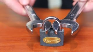getlinkyoutube.com-How to open a lock with a nut wrench