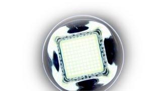 getlinkyoutube.com-8000 Lumen LED 100W  vs. my flashlight