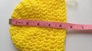 getlinkyoutube.com-Crochet a Simple Baby Beanie for newborn's 0-6 months