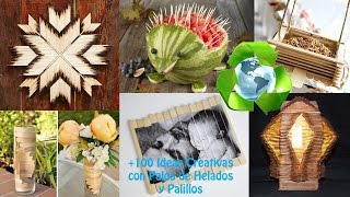 getlinkyoutube.com-+100 Ideas Palos Helados-Palillos / Ideas Ice Cream Sticks +100