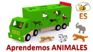getlinkyoutube.com-Los animales salvajes para niños. Dibujos animados educativos en español. Learn Spanish