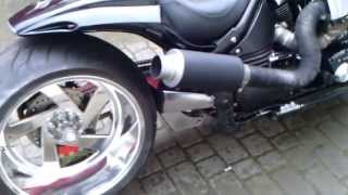 getlinkyoutube.com-Yamaha warrior 1700 turbo custom POLAND 300mm mono