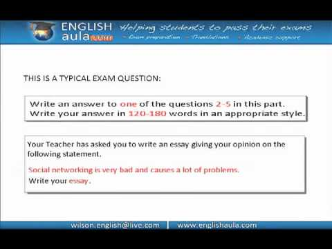 FCE EXAM-WRITING: ARGUMENTATIVE ESSAY