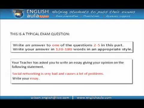 FCE EXAM-WRITING: ARGUMENTATIVE ESSAY