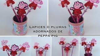 getlinkyoutube.com-LAPICES O PLUMAS  ADORNADOS CON PEPPA  PIG.