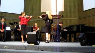 getlinkyoutube.com-The Collingsworth Family - Brooklyn & Courtney Violin Duet