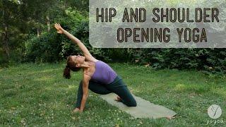 getlinkyoutube.com-Hip & Shoulder Opening Yoga Routine: Reinvent Yourself (open level)