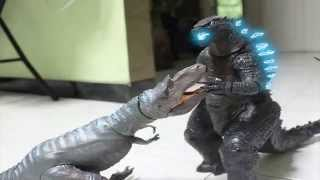 getlinkyoutube.com-Godzilla VS. Dinosaurs Stop Motion