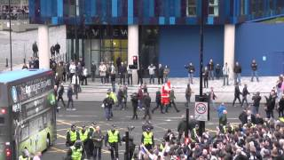 getlinkyoutube.com-Sunderland Fans Scuffle With Newcastle Fans Before Newcastle 0 1 Sunderland 21 12 2014