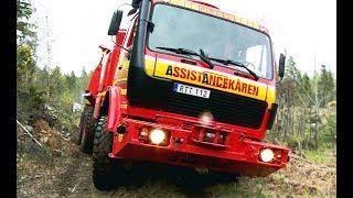 getlinkyoutube.com-Mercedes 6x6 Recovery Truck VS Excavator - Arosbärgarna & Terribärgarn