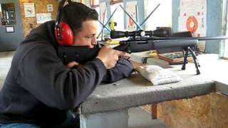 getlinkyoutube.com-Remington 700 SPS police tactical 308  (SWAT sniper Rifle) at 200 yards