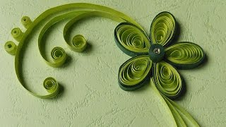 getlinkyoutube.com-Paper Quilling Greeting Cards | Flower Hand Works | HandiWorks #12
