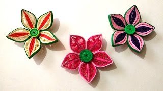 getlinkyoutube.com-How To Make Beautiful 3D Flower Using Paper Art Quilling