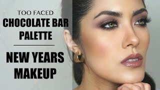 getlinkyoutube.com-Another Too Faced Chocolate Bar palette tutorial + New Years Makeup Inspo | Melissa Alatorre