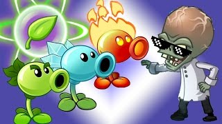 getlinkyoutube.com-Plants vs Zombies Epic Power UP Snow Fire and Peas vs All Freakin' Zomboss
