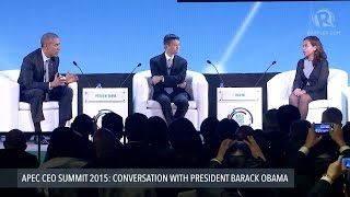 getlinkyoutube.com-APEC CEO SUMMIT 2015: Obama hosts panel with Alibaba CEO and PH scientist