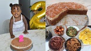 CHELSEA's 2nd Birthday ! Best Raw Vegan Tiramisu Cake Recipe + African foods width=