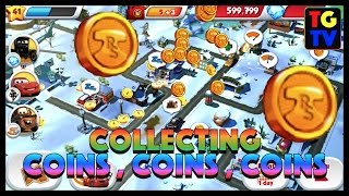 Cars Fast as Lightning - Collecting Coins with Lightning McQueen