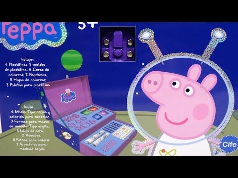 Peppa Pig Maletín Fantasía Artístico con Plastilina y Pinturas Briefcase with Playdough n Crayons