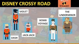 getlinkyoutube.com-Disney Crossy Road Dash, Violet, Jack Jack, Bomb Voyage, Underminer (Incredibles)