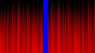 Stage Curtain Blue Screen Clean RED  Royalty Free Video Effect Footage VFX