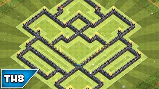 Clash of Clans - BEST TOWNHALL 8 HYBRID BASE! - 2015