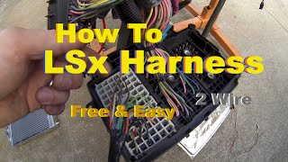 getlinkyoutube.com-LSx Swap Harness How To Simple & Free DIY Standalone on the Test Stand