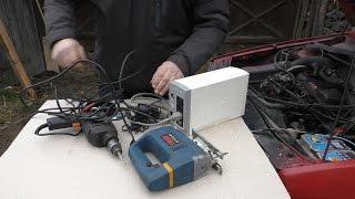 getlinkyoutube.com-Простой инвертор тока из 12 В в 220 В  из старого бесперебойника на 300 Вт inverter 12-220volt
