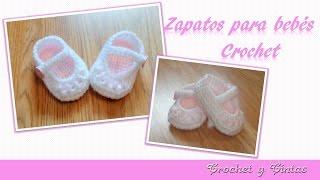getlinkyoutube.com-Como tejer zapaticos,  escarpines crochet (ganchillo) para bebé  – Parte 2