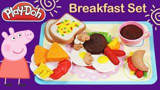 getlinkyoutube.com-Breakfast set like Play doh / burger hotdog mushroom sandwich playdoh