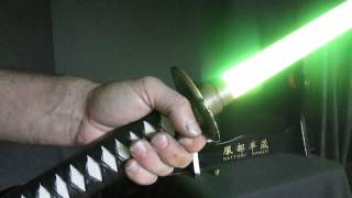 getlinkyoutube.com-Fire Oni Katana Lightsaber with 18 watt Z6 and Igniter R5