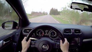 getlinkyoutube.com-2012 Volkswagen Golf R (APR Stage 2) - WR TV POV Sunset Drive