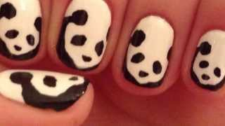 Panda Nail Art Tutorial (REQUEST)