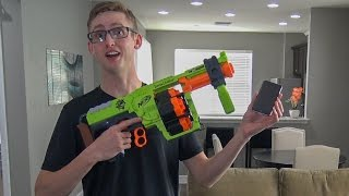 getlinkyoutube.com-iPhone vs. Nerf Gun | YOU WON'T BELIEVE WHAT HAPPENS!