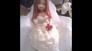 getlinkyoutube.com-colocando tecido no vestido de noiva