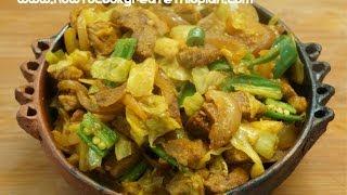 getlinkyoutube.com-Ethiopian Food - Beef & Cabbage Alicha Tibs Recipe - Amharic English - Injera Wot Berbere Kitfo