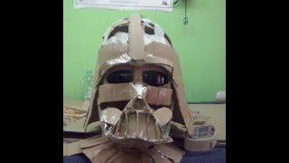 getlinkyoutube.com-Cosplay Tutorial - Darth Vader Helmet (el casco y la máscara)